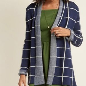 Modcloth Simply Snuggly Navy Cardigan